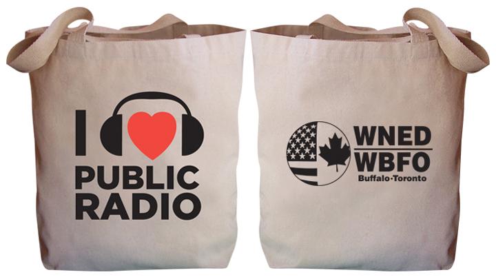 "I ""heart"" Public Radio WNED | WBFO Tote Bag"