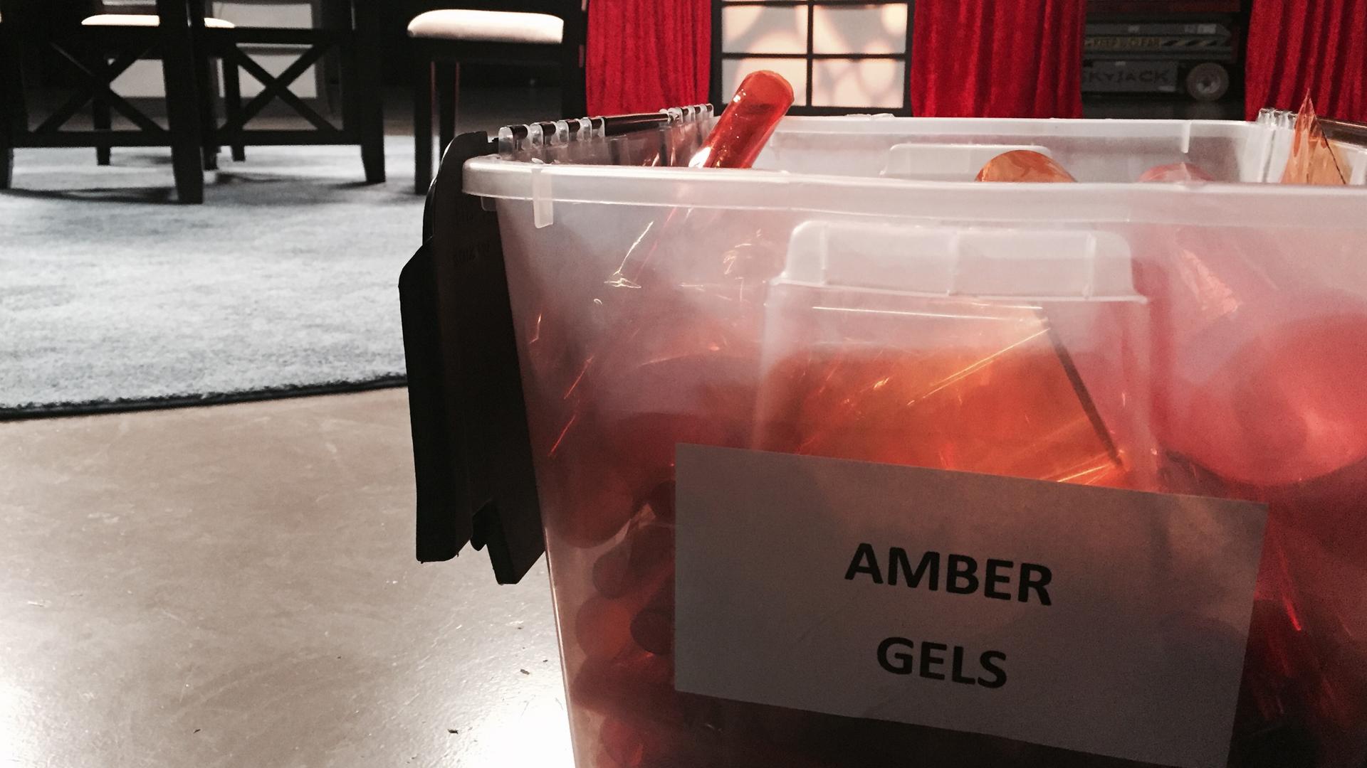 box of amber gels