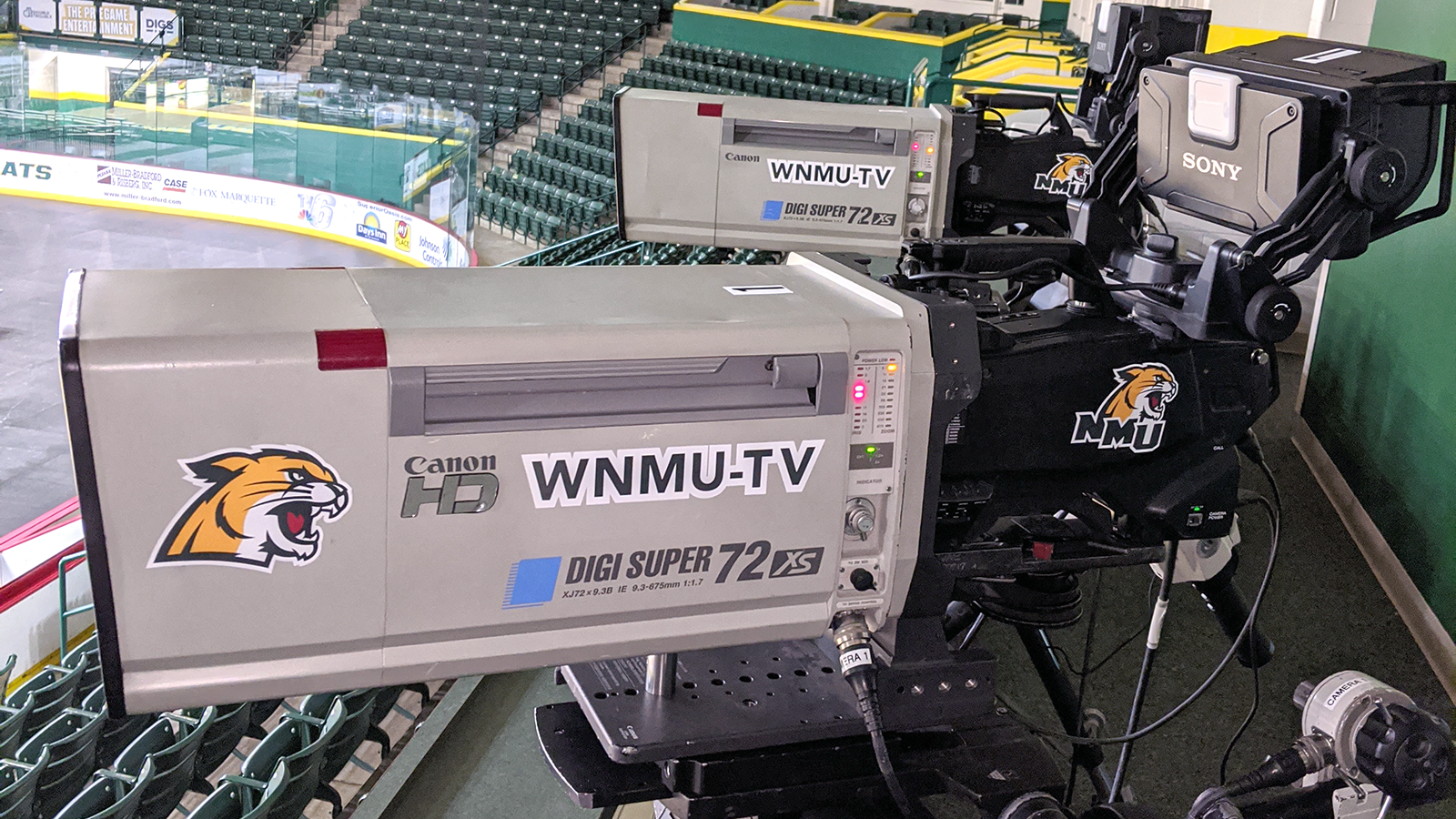 WNMU switcher at the Barry Events Center