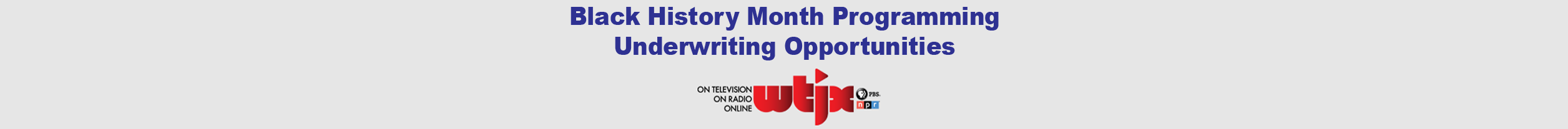 Black History month underwriting