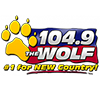 104.9 The WOLF, #1 for Bew Country!
