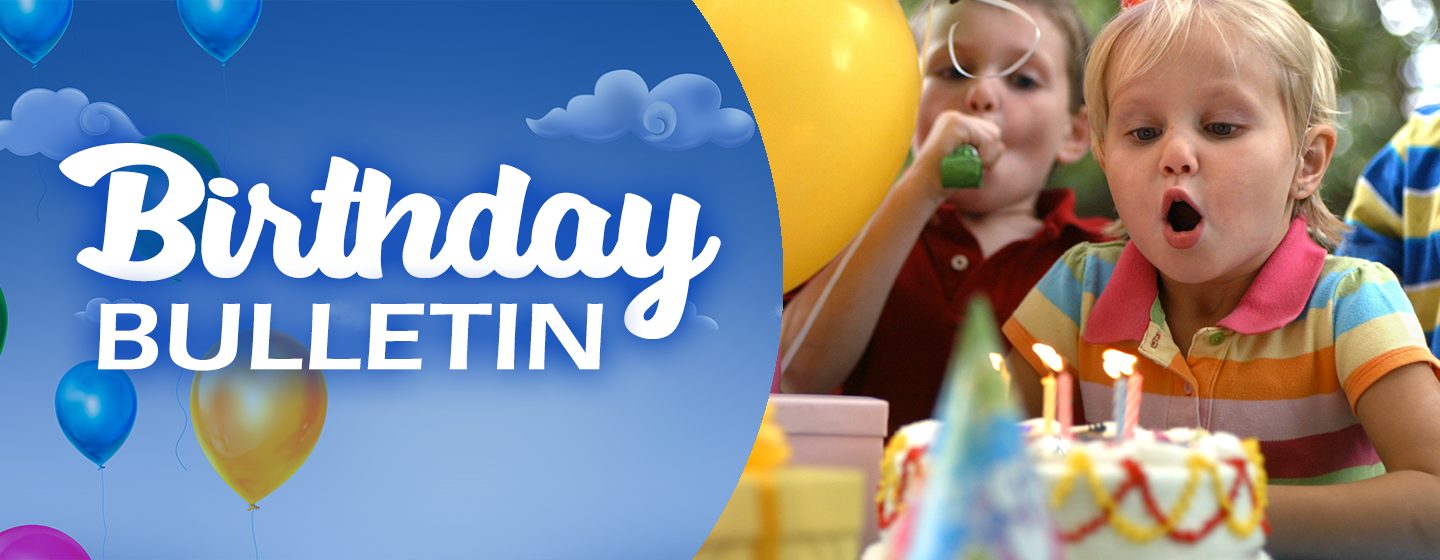 Birthday Bulletin Header