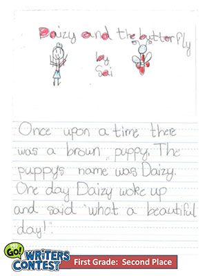 "First Grade: ""Daizy and the Butterfly"""