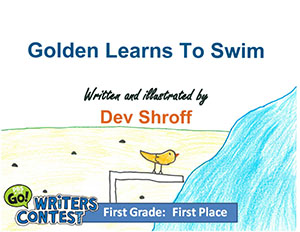 "First Grade: ""Golden Learns to Swim"""
