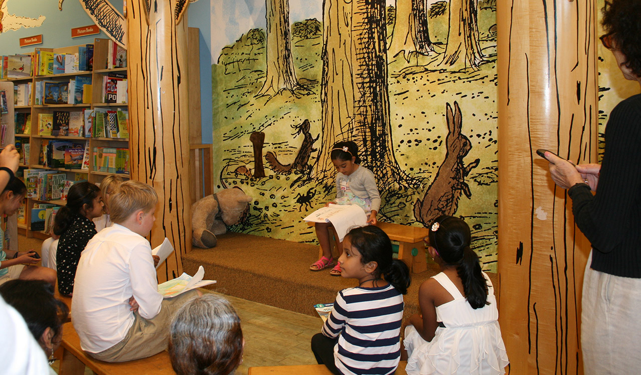 Kindergarten Winner reads her story at Barnes and Noble Little Local Authors Event