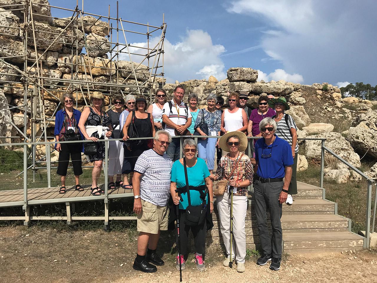 Traveler in group shot