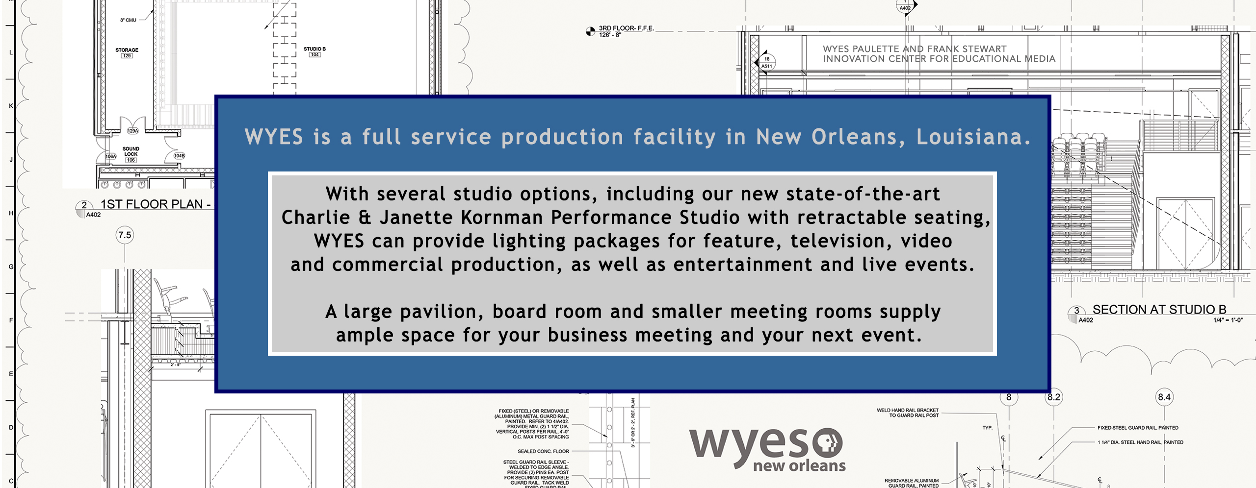 WYES facility rental information